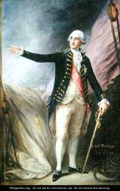 George Brydges Rodney 1719-92 Admiral of the White - Thomas Gainsborough