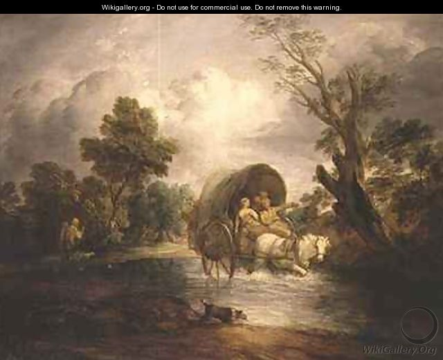 A Country Cart crossing a Ford - Thomas Gainsborough