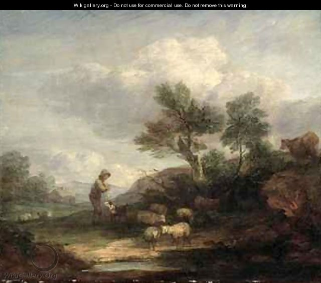 Landscape with Sheep 2 - Thomas Gainsborough