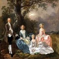 Mr and Mrs John Gravenor and their Daughters Elizabeth and Ann - Thomas Gainsborough