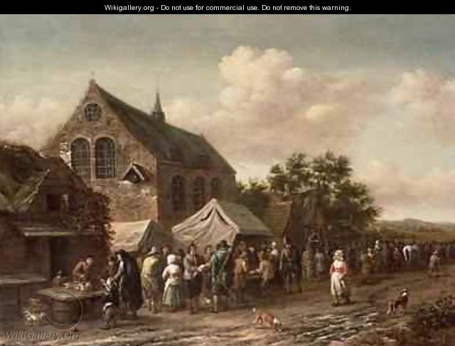 Poultry Market by a Church - Barend Gael or Gaal