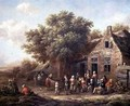 Peasants Merry Making outside an Inn - Barend Gael or Gaal