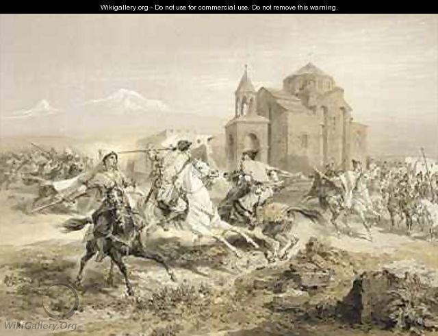 Skirmish of Persians and Kurds in Armenia - (after) Gagarin, Grigori Grigorevich