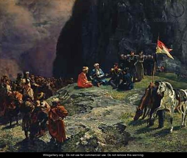 The Meeting of General Kluke von Klugenau and Imam Shamil in 1837 - Grigori Grigorevich Gagarin