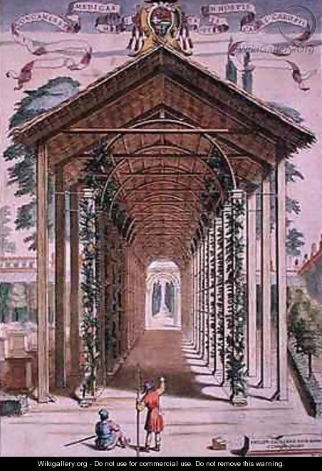 A Trellised Covered Walkway - Filippo Gagliardi