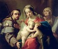 Madonna and Child with Saints John Anna and Rocco - Gaetano Gandolfi