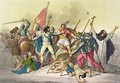 Fight Between Local Indians and Conquistadors - Gallo Gallina
