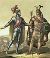 Conquistador with a Native American Chief - Gallo Gallina