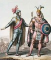 The Encounter between Hernan Cortes 1485-1547 and Montezuma II 1466-1520 - Gallo Gallina