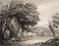 Wooded Landscape with Carts and Figures - Thomas Gainsborough