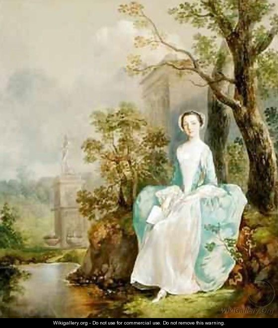Girl with a Book Seated in a Park - Thomas Gainsborough
