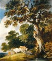 A wooded landscape with cattle and herdsmen - Gainsborough Dupont