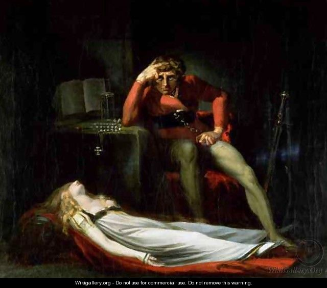 The Italian Court or Ezzelier Count of Ravenna musing over the body of Meduna slain by him for infidelity during his absence in the Holy Land - Johann Henry Fuseli