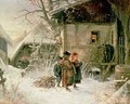 Children in the Snow - Bernard Frohlich