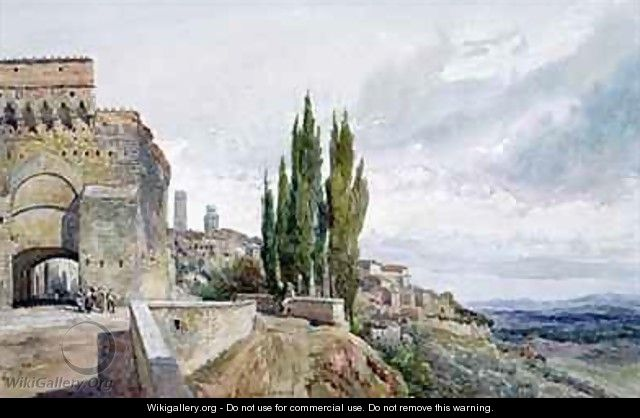 The Ruins of the Roman Theatre at San Gimignano - John Fulleylove
