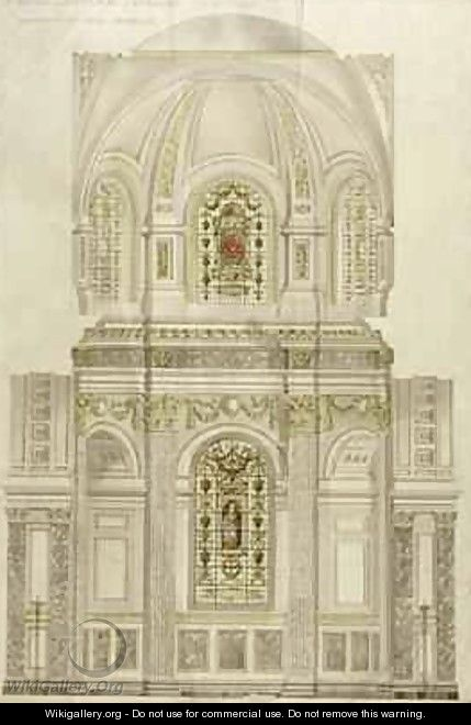 Decorative scheme for the apse of St Pauls Cathedral - Thomas Garner
