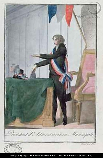 President dAdministration Municipale during the period of the Directoire 1795-99 in France - Jean Francois Garneray