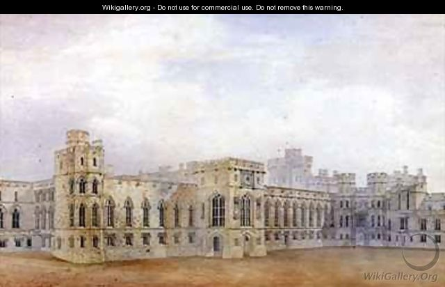 Windsor Castle and the North East View of the Upper Ward - Michael Gandy