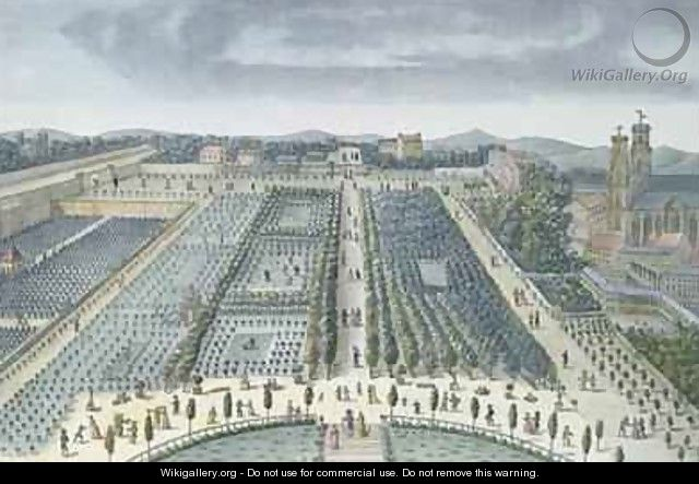 General View of Luxembourg Gardens in Paris - (after) Garbizza, Angelo