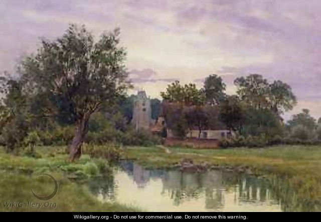Evening Hemingford Grey Church Huntingdonshire - William Fraser Garden