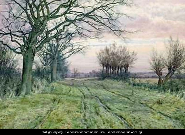 A Fenland Lane with Pollarded Willows - William Fraser Garden