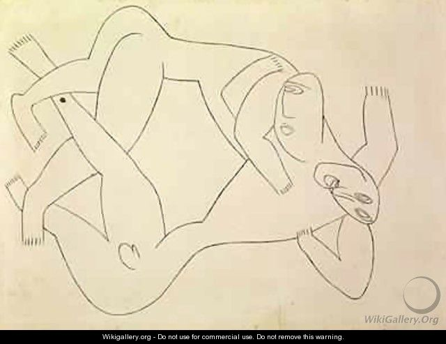 Two Men Wrestling - Henri Gaudier-Brzeska