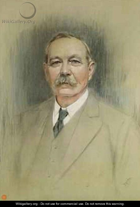 Portrait of Sir Arthur Conan Doyle - William Henry Gates