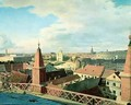 View of the city of Berlin with Altes Museum and Cathedrale from the roof of the Church of Friedrichswerder - Eduard Gartner