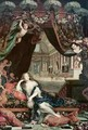 Portrait of Madame de Montespan 1640-1707 reclining in front of gallery of the Chateau de Clagny - Henri Gascard