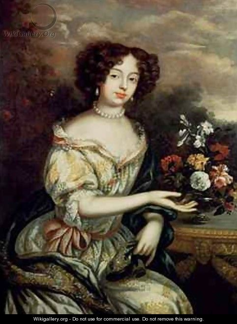 Portrait of Louise Renee Kerouaille Duchess of Portsmouth and Aubigny 1649-1734 mistress of Charles II - Henri Gascard