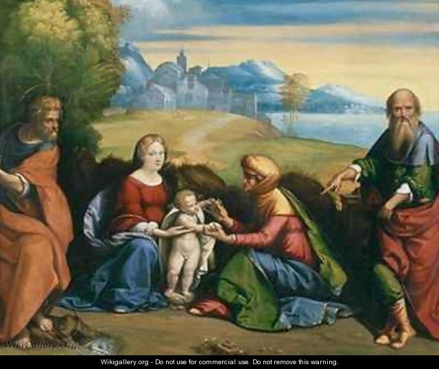 The Holy Family with St Anne and Joachim - Garofalo