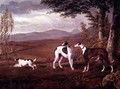 Greyhounds in a Landscape - George Garrard