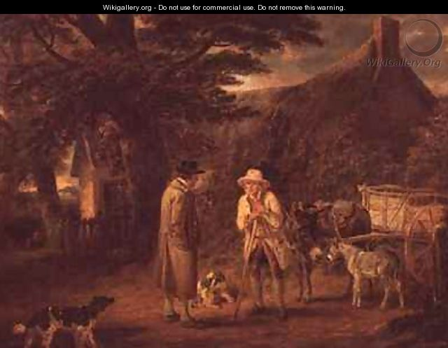 Donkey Cart and Two Men - George Garrard
