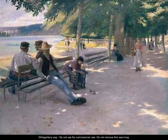 In the shade - Norman Garstin