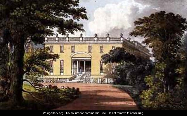 Nutwell Court from Ackermanns Repository of Arts - (after) Gendall, John