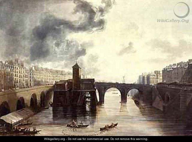 Pont Notre Dame from Views on the Seine - (after) Gendall, John