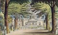 Principal front of Chiswick House - (after) Gendall, John