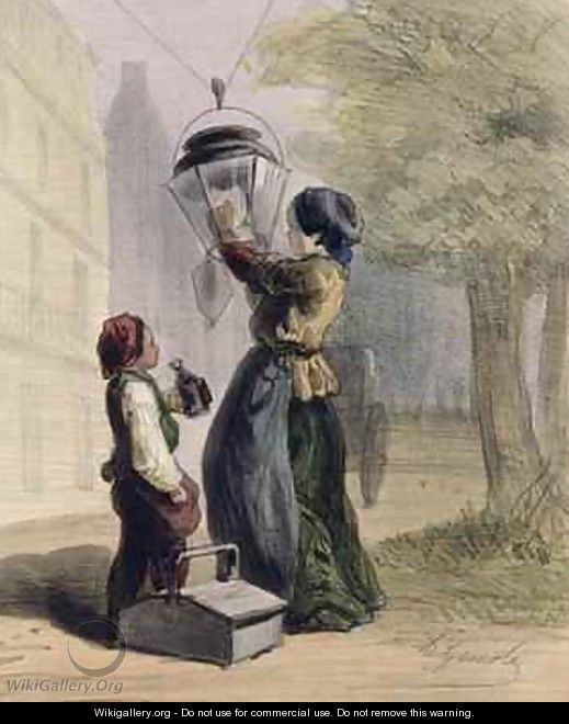 The Lamplighter - Alfred Andre Geniole