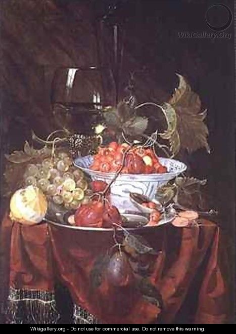 A Still life of Fruit - Nicolaes Van Gelder