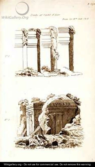 Tombs at Castel dAsso - (after) Gell, Sir William