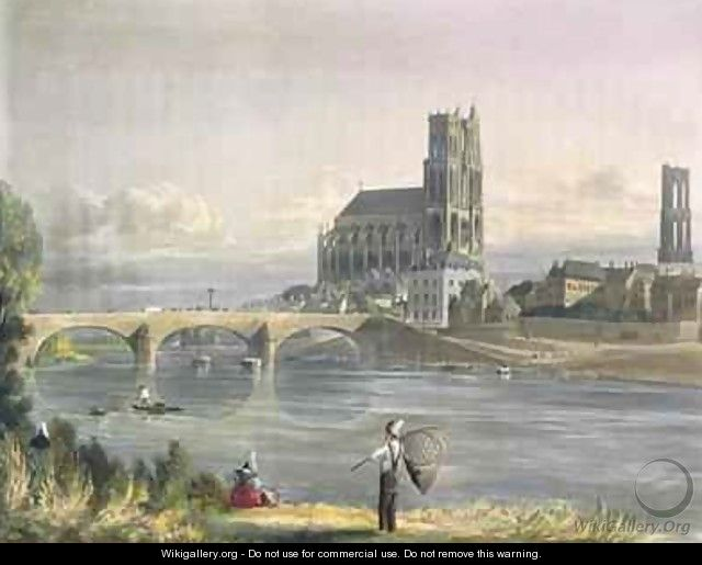 View of Mantes - (after) Gendall, John