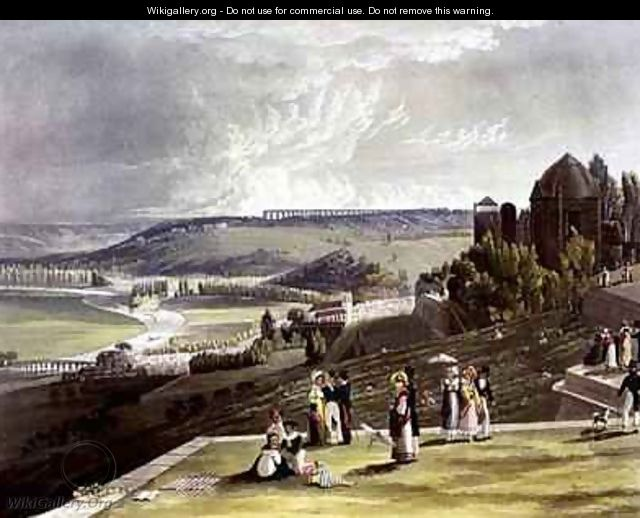St Germain from Views on the Seine - (after) Gendall, John