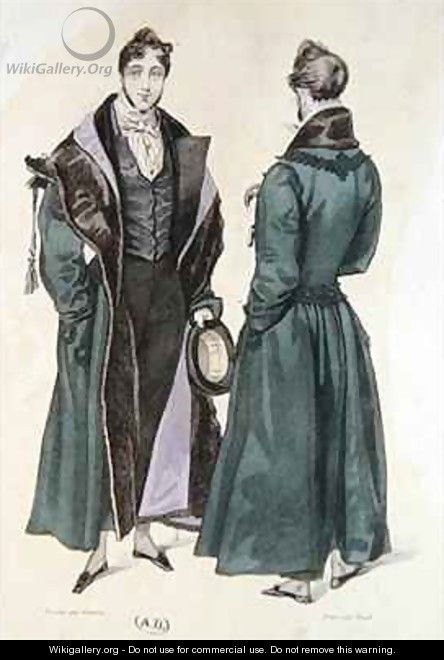 French Fashion plate of a Pelisse Russe - (after) Gavarni, Paul