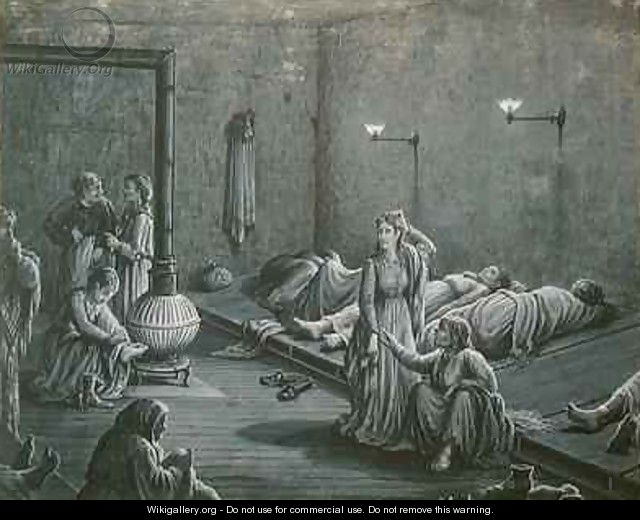 Interior of a Night Shelter for Poor Women - A. Gault