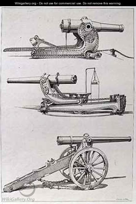Three Forms of Artillery Gun - Saint-Elme Gautier