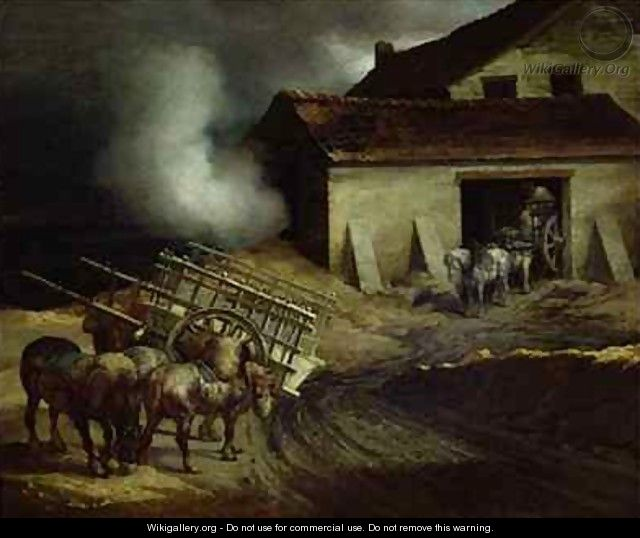 The Kiln at the Plaster Works 2 - Theodore Gericault