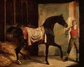 Horse Leaving a Stable - Theodore Gericault