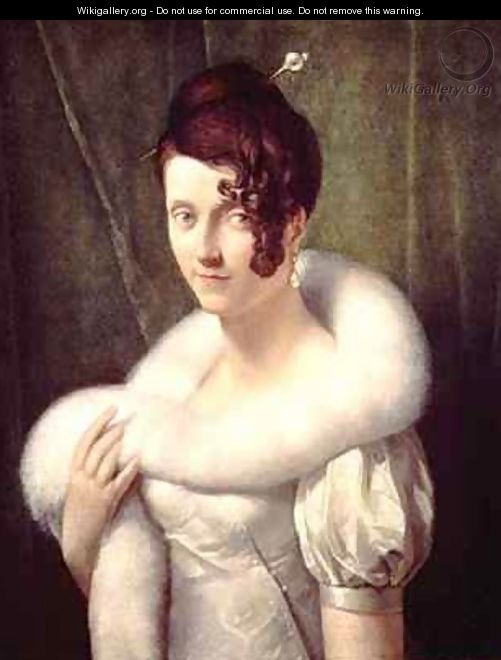 Portrait of a woman with a hair pin - Baron Francois Gerard