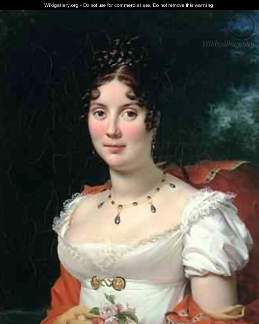 Portrait of a Lady in an Empire Dress - Baron Francois Gerard