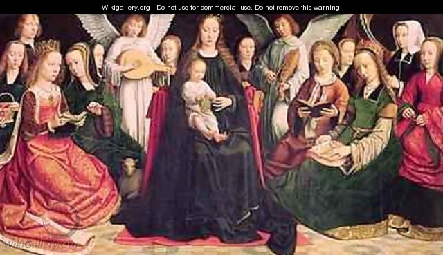 Virgin and Child with Saints 2 - Gerard David